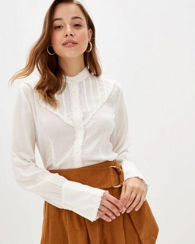 Блузка с длинным рукавом белая United Colors Of Benetton