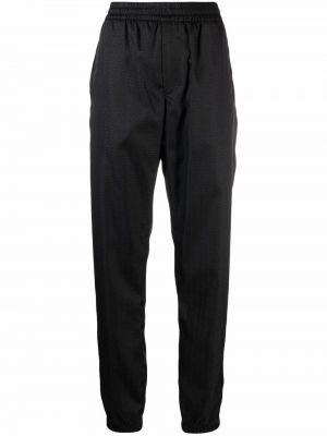 Spodnie z printem - czarne Givenchy
