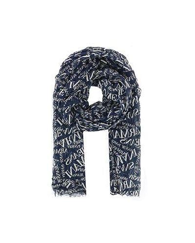 Синий палантин Armani Jeans