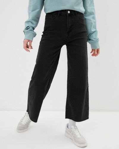Расклешенные серые широкие джинсы Haily's