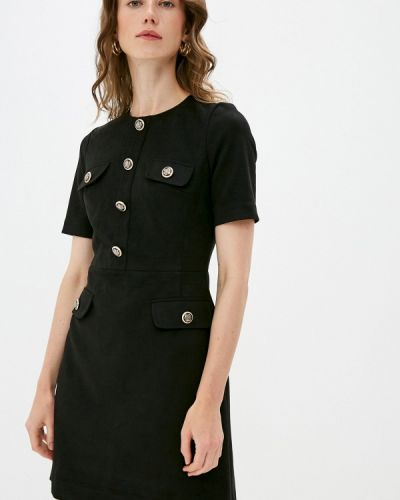 Черное прямое платье Lusio
