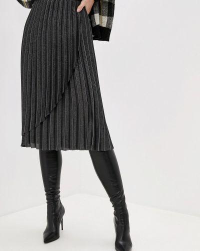 Плиссированная юбка черная Karl Lagerfeld