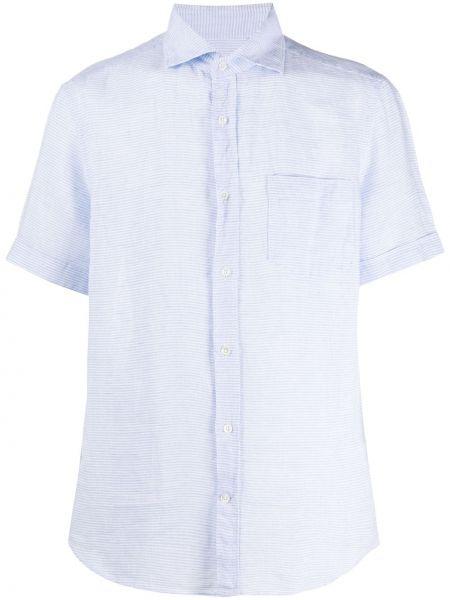 Koszula krótkie z krótkim rękawem z paskami w paski Glanshirt
