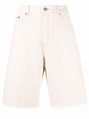 Джинсовые шорты с завышенной талией - белые 12 Storeez
