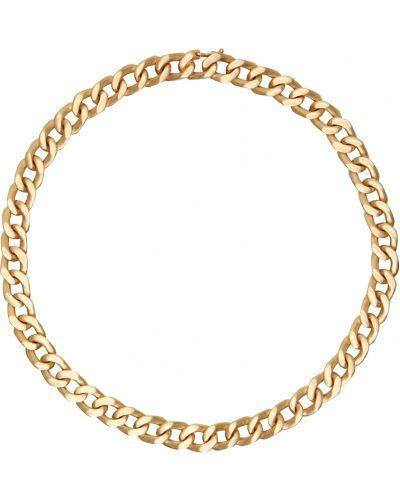 Naszyjnik łańcuch srebrny - żółty Maison Margiela