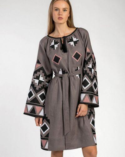 Платье - серое Etnodim