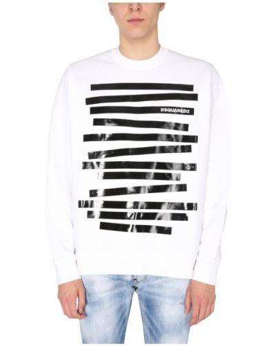 Biała bluza dresowa Dsquared2