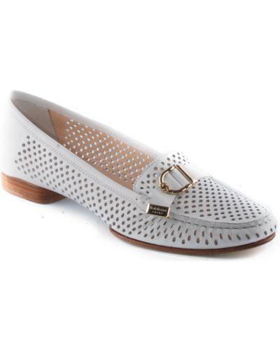Кожаные туфли - белые Baldinini