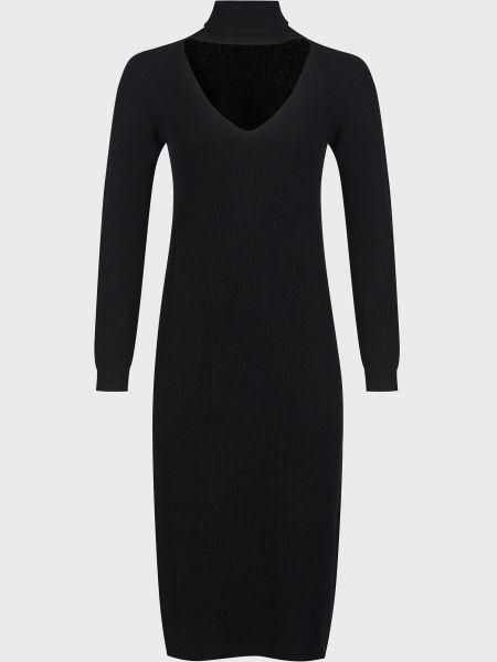 Черное платье из вискозы Kontatto