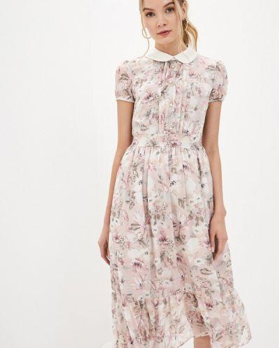 Прямое розовое платье А-силуэта Lusio