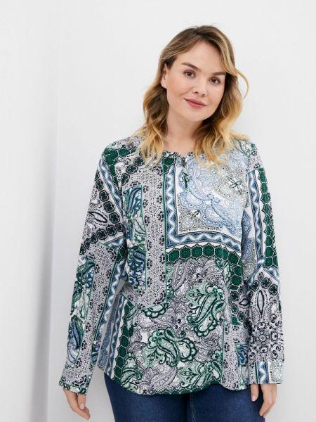 Блузка с длинным рукавом синяя весенний Ulla Popken