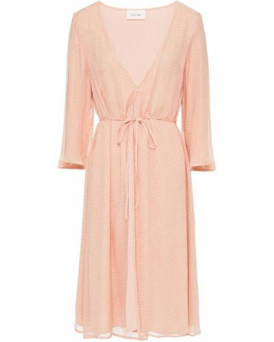 Платье с запахом - оранжевое American Vintage