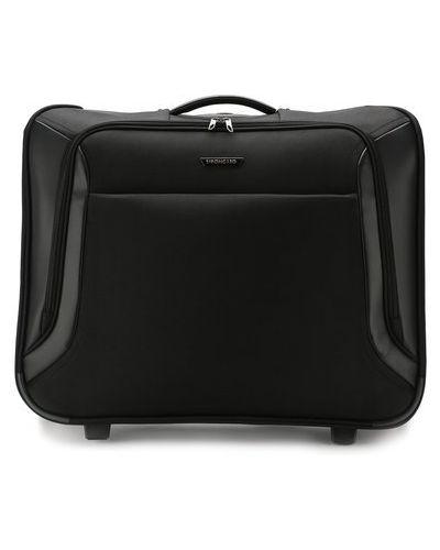Нейлоновый чемодан на молнии с карманами Roncato