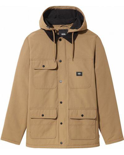 Текстильная коричневая куртка мембранная Vans