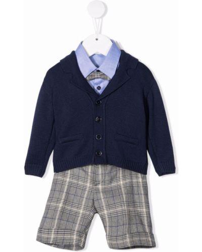 Niebieskie spodnie z printem Colorichiari