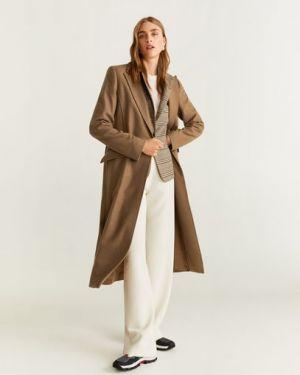 Пальто шерстяное пальто Mango