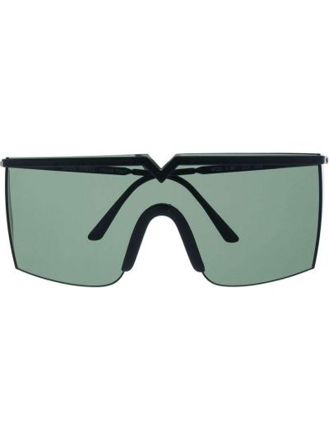 Черные солнцезащитные очки металлические Versace Pre-owned