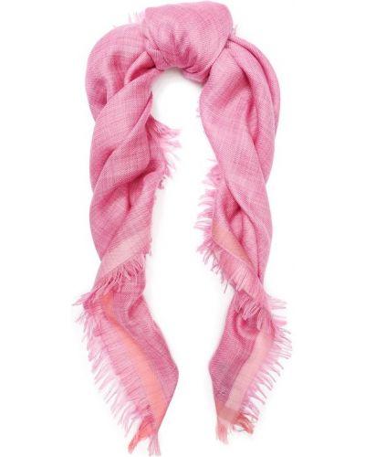 Платок розовый с бахромой Loro Piana