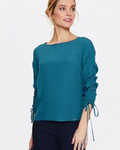 Бирюзовая блузка с длинным рукавом Top Secret