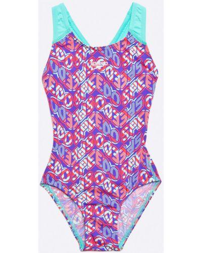 Слитный купальник с узором фиолетовый Speedo
