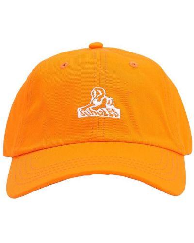 Pomarańczowy kapelusz bawełniany Carrots X Jungle