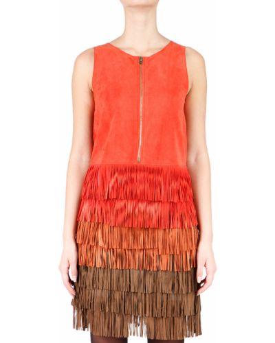 Кожаное платье - оранжевое Hotel Particulier