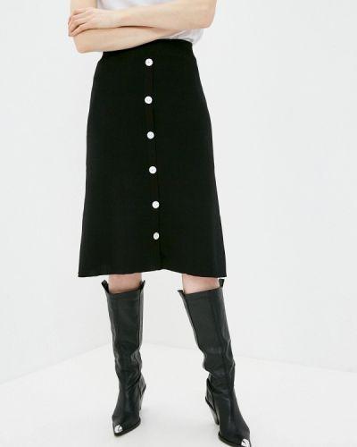 Черная юбка свободного кроя Katya Erokhina