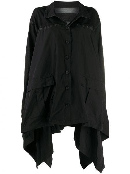 Черная джинсовая куртка оверсайз с воротником Rundholz