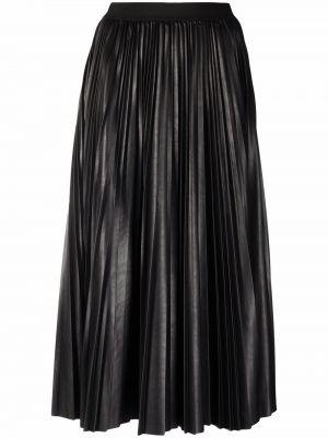 Черная плиссированная юбка Antonelli