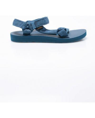 Бирюзовые сандалии текстильные Teva
