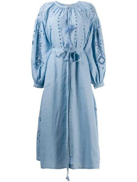 Платье с поясом с кисточками с рукавами Vita Kin