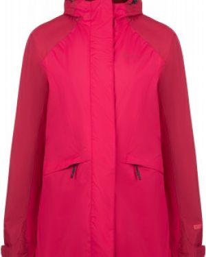 Прямая розовая куртка с капюшоном на молнии с карманами Outventure