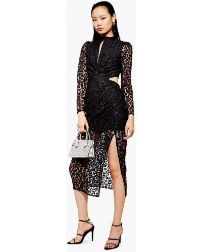 Вечернее платье весеннее черное Topshop