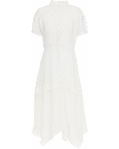 Biała sukienka midi zapinane na guziki Walter Baker