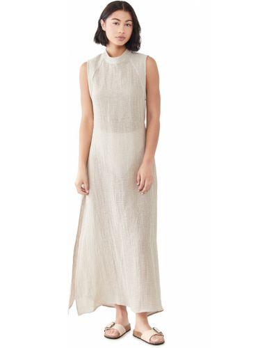 Льняное платье с декольте стрейч Le Kasha