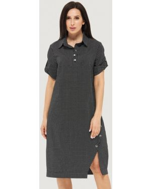 Платье платье-рубашка черное Danna