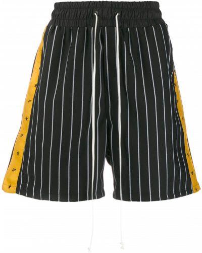 Короткие шорты черные на резинке Daniel Patrick