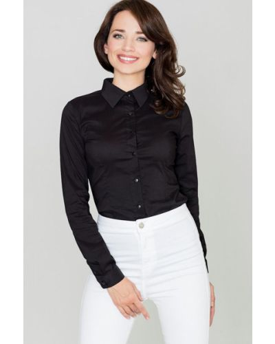 Czarna koszula bawełniana Katrus