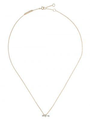 Biały złoty naszyjnik z diamentem Delfina Delettrez