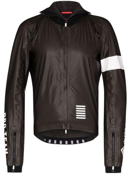 Czarna kurtka sportowa z nylonu Rapha
