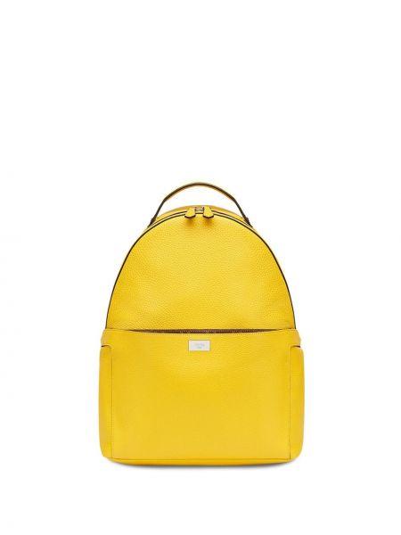 Желтый кожаный маленькая сумка с карманами Fendi