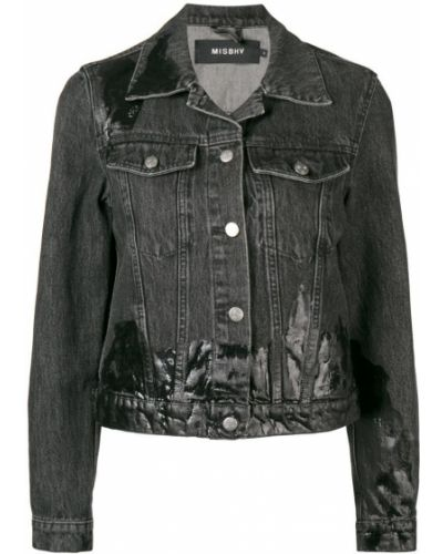 Черная джинсовая куртка с манжетами Misbhv