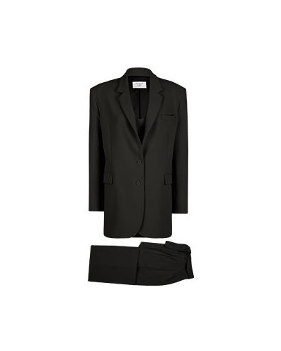 Костюмный черный брючный костюм из вискозы Seven Lab