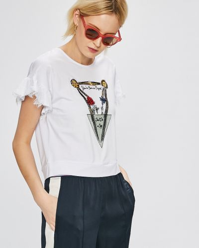 Белая свободная футболка Silvian Heach