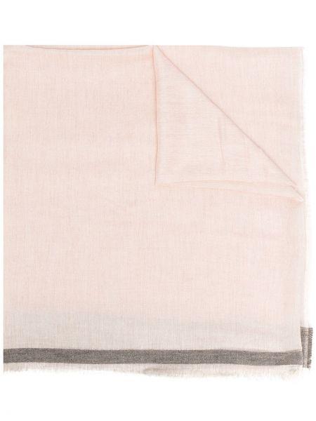 Розовый шерстяной шарф с опушкой Twin-set