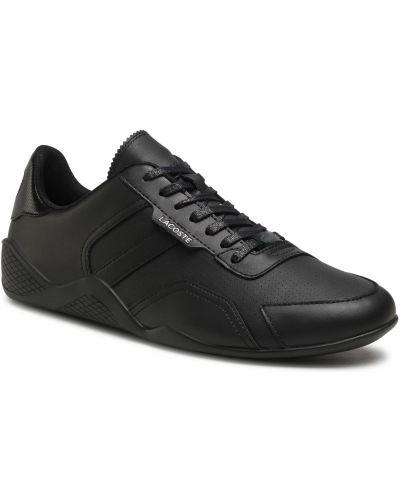 Buty sportowe skorzane - czarne Lacoste