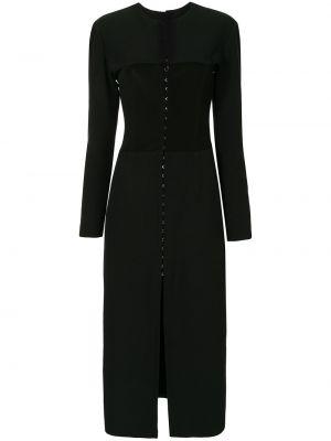 Шелковое платье миди - черное Dion Lee