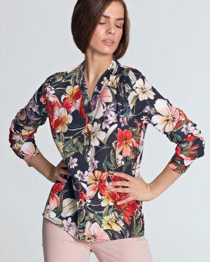 Bluzka koszulowa w kwiaty - czerwona Nife