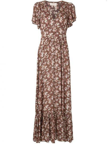 Розовое платье с V-образным вырезом на молнии из вискозы Auguste