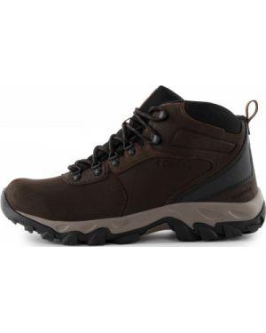 Спортивные кожаные кожаные ботинки на шнуровке мембранные Columbia